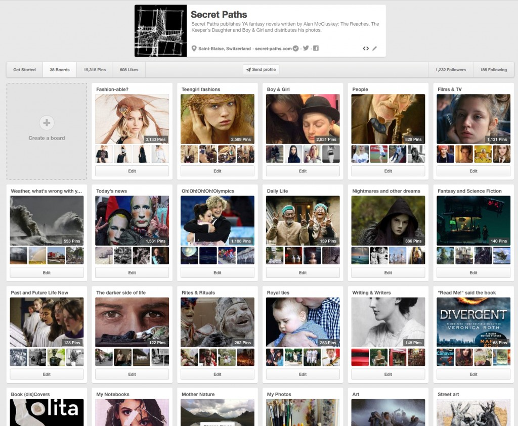 New Pinterest covers