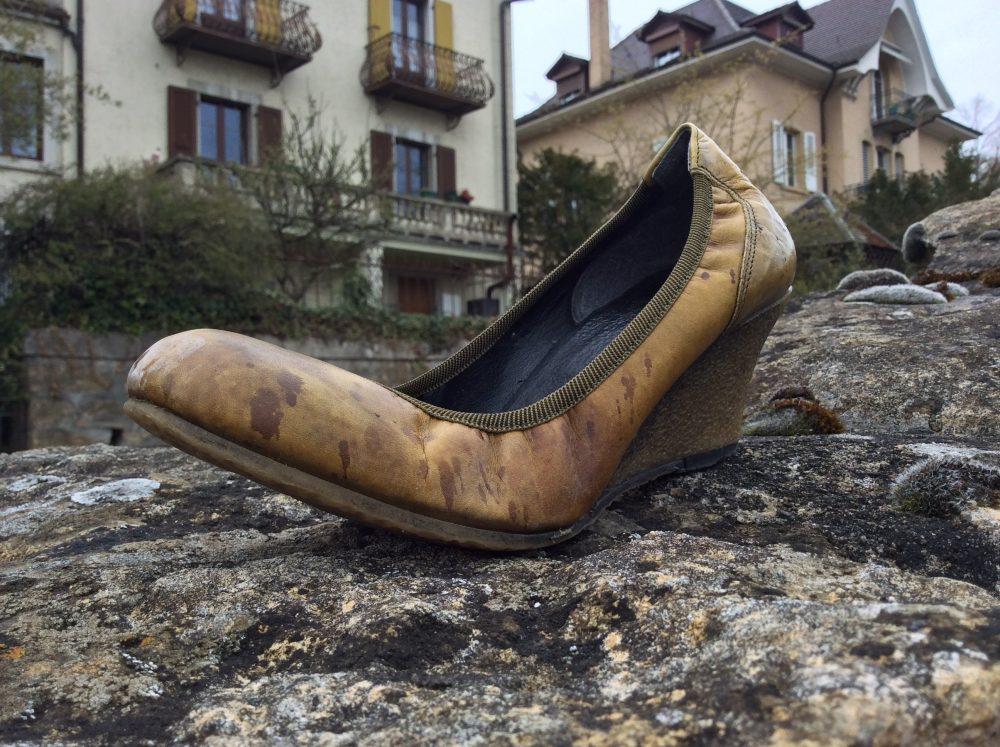 Men writers in women's shoes